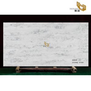 Cloud vein quartz white/grey artificial stone for bathroom countertop - A5010