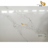 Polished white calacatta quartz slab artificials stone tiles factory manufacture
