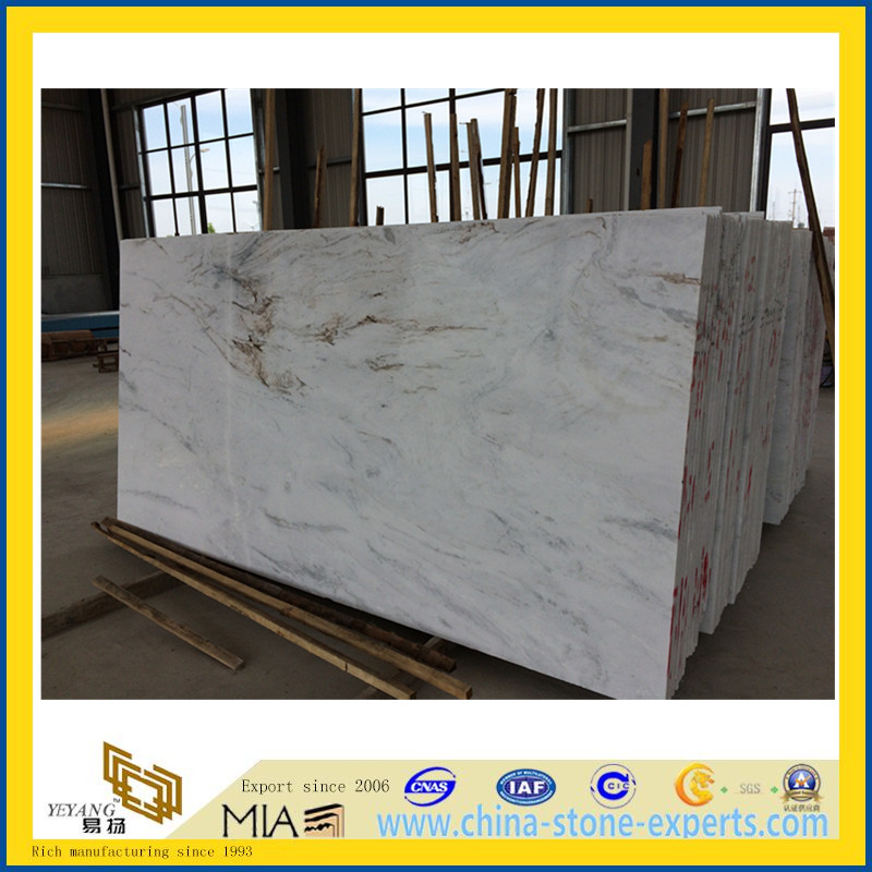 Polished Castro White Marble for Countertop & Vanitytop(YQC)