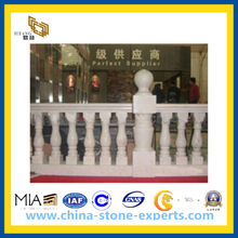 White Natural Stone Marble Baluster, Balustrade Railing