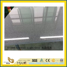 Crystal Light Grey Quartz Stone for Indoor Decoration