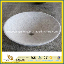 Pearl White Granite Counter Top Basin for Hotel Bathroom