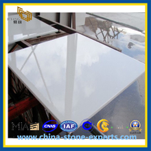 A Grade Pure White Royal White Marble Tiles (YQZ-MT1012)