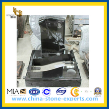 European Black Granite Tombstone Slab (YQZ-MN)