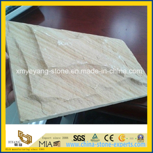 Natural Yellow Sandstone Mushroom Tile for Exterior Wall Cladding