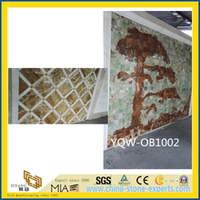 Green/White/Yellow Natural Stone Onyx for Background, Floor Tiles