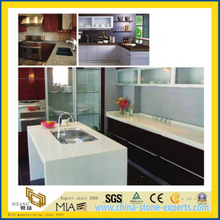 Pure White/Black/Beige Polished Artificial Quartz Stone Countertop for Kitchen/Bathroom/Hotel
