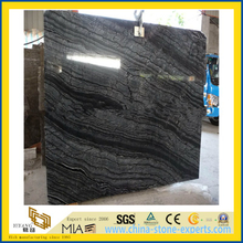 Black Wood Marble Slabs for Floor, Wall, Kitchen Decoration