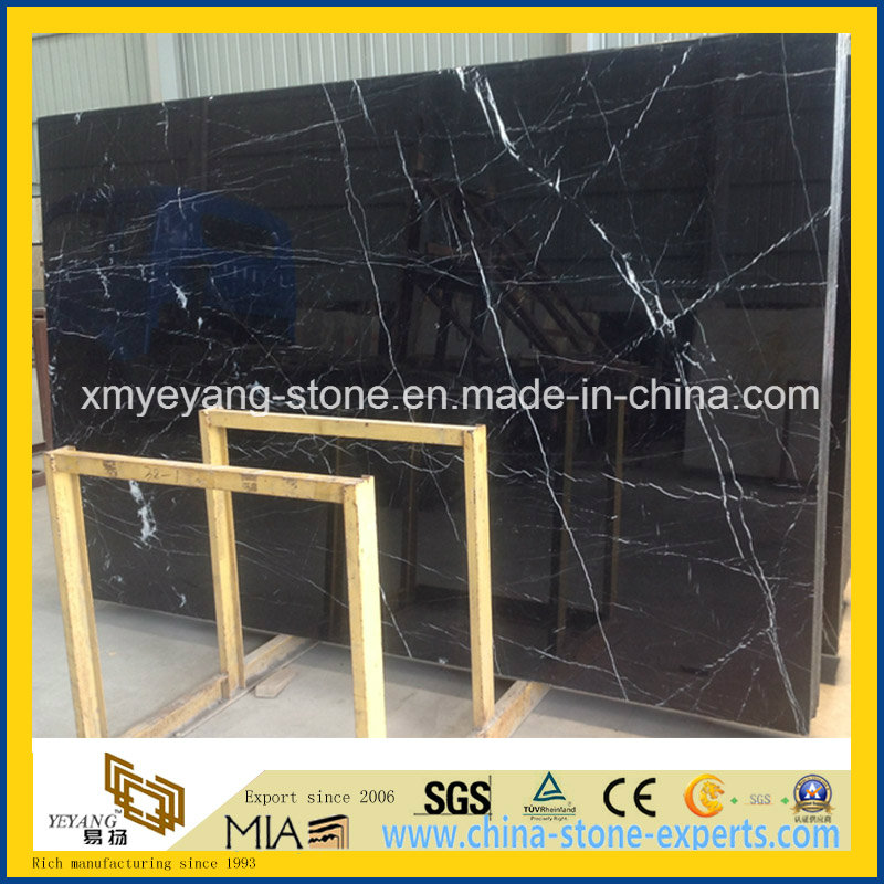 Polished Black Marquina Marble for Walling or Flooring