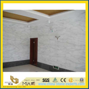 Polished White Marble Stone Wall Tiles for Project (YYT)