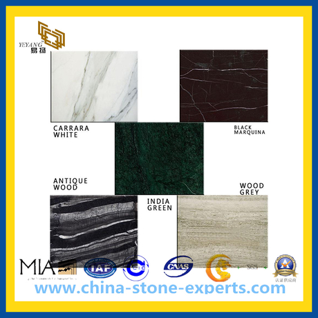 Natural White / Green Marble Floor Tiles for Kitchen / Bathroom Flooring(YQC)