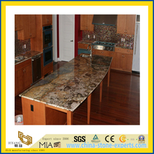 Polished Natural Stone Brown Granite Countertop for Kitchen/Bathroom (YQC)