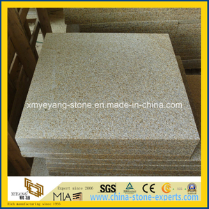 Golden Sunset Granite Bushhammer Floor Tile for Swimming Pool Surroundings