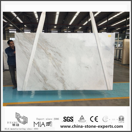 New Polished Arabescato Venato White Marble Slabs for Bathroom Tiles (YQW-MSA061003)