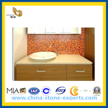 Chinese Crystal Artificial Marble Kitchen Countertop Bathroom Sink (YQA-QC)
