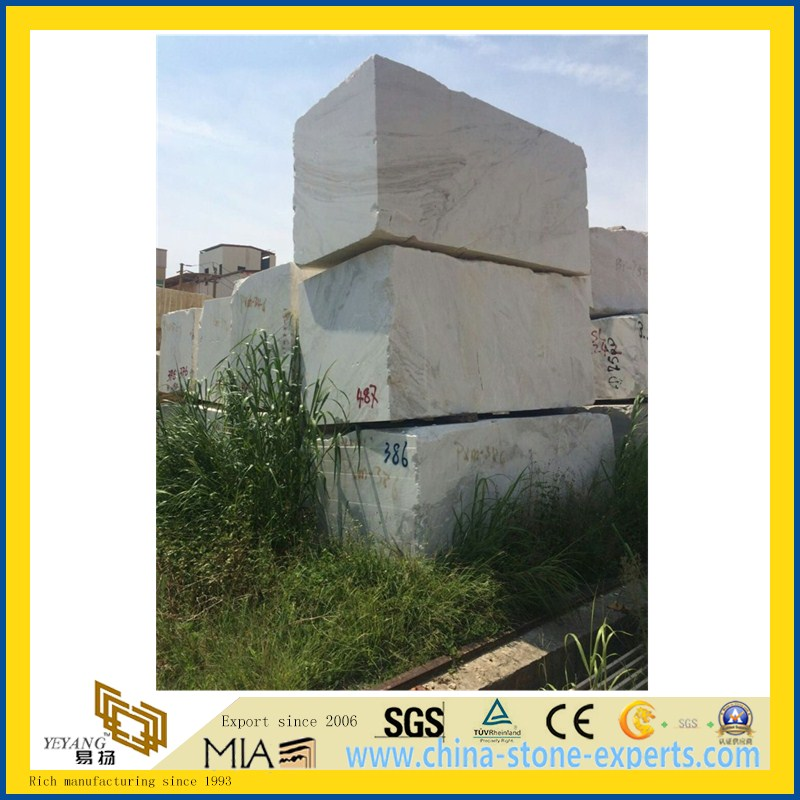 China Polished Castro White Marble Slab for floor tile(YQW)