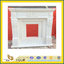 Carved White Marble Stone Fireplace for Indoor(YQG-F1011)