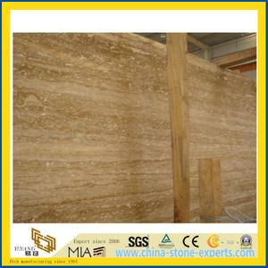 Polished Noche Travertine Slab for Home Background