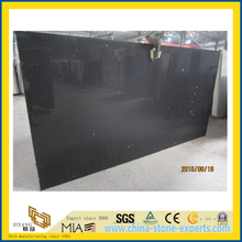 Crystal Black Artificial Quartz Stone for Kitchen/Bathroom/School Wall Tiles