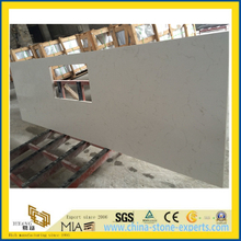 White Carrara Quartz Countertop for Kitchen (YYS-016)