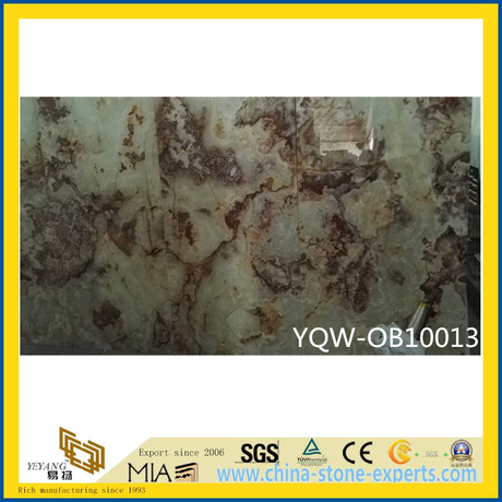 Polished White/Brown Natural Stone Onyx for Hotel Background