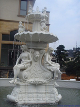 White Marble Water Fountain for Garden