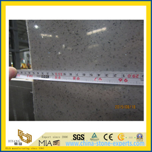 Crystal Light Grey Polished Artificial Quartz Stone for Kitchen/Bathroom/School Wall