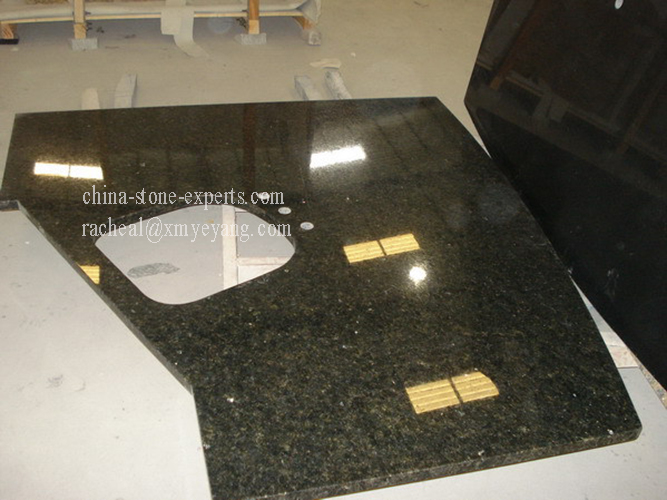 Uba Tuba Dark Green Granite Kitchen Countertop (YQZ-GC1030)