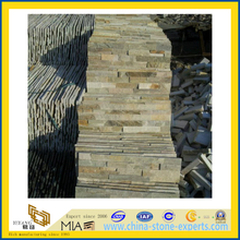 Natural Yellow Cultural Stone Slate Cladding for Wall (YQA-S1044)