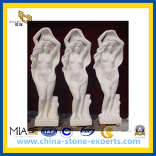 White Polished Honed Marble Stone Sculpture for Garden(YQG-CS1045)