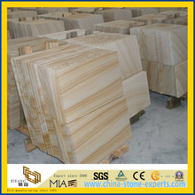 Yellow Wooden Vein Sandstone for Walling or Flooring Tile