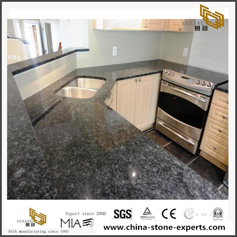 Steel Gray Granite For Kitchen Polished