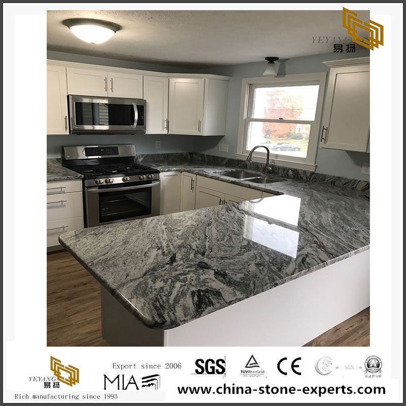 Granite Silver Cloud Kitchen Countertop