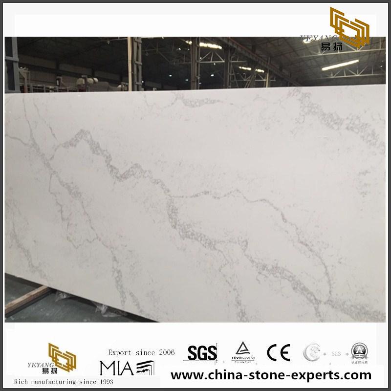 Marble Vein Calacatta Quartz Slab Price For Countertop
